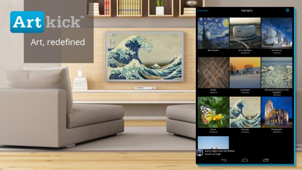Artkick Chromecast app
