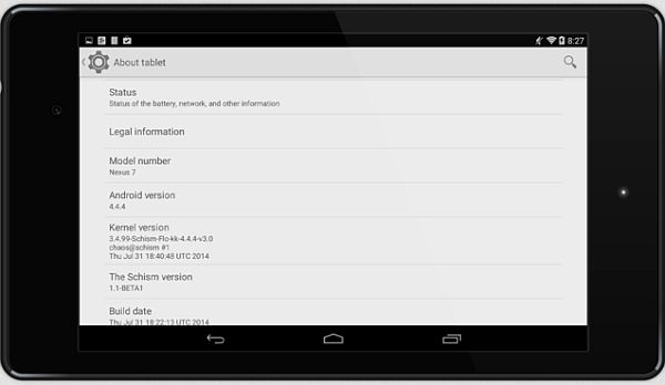 Schism ROM for nexus 7