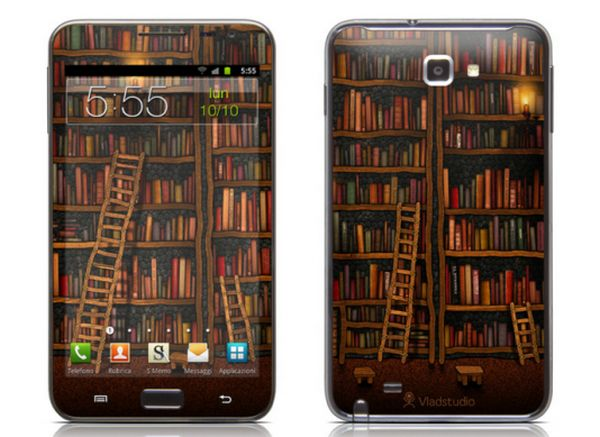 Library smartphone skin
