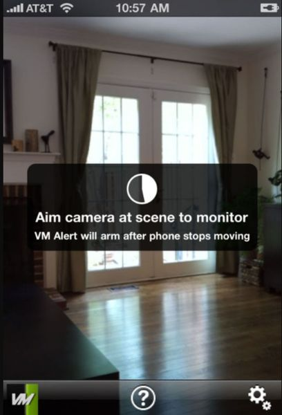 VM Alert is basically a motion detector.