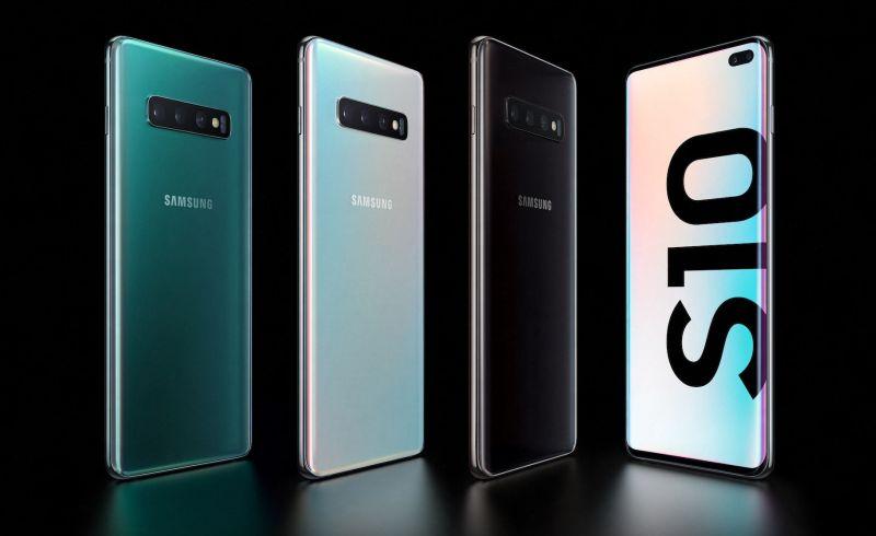 The Samsung Galaxy s10 plus