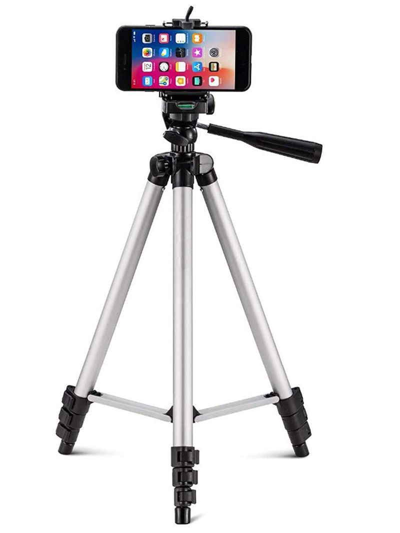 Tygot Adjustable Aluminium Alloy Tripod Stand Holder for Mobile Phones & Camera